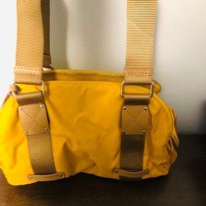 FRANCO SARTO yellow nylon handbag